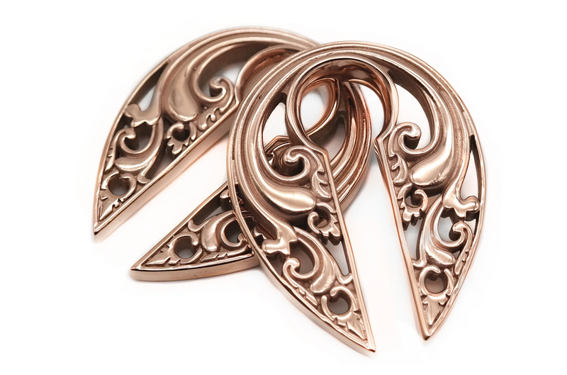 Rose Gold Antheia Hangers #EW34-RG - Fux Jewellery