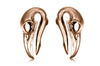 Rose Gold Raven Skull Ear Weights #BH13-RG - Fux Jewellery