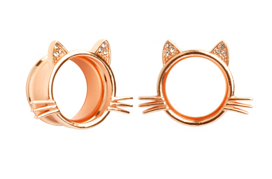 Rose Gold Kitty Tunnel #833 - Fux Jewellery