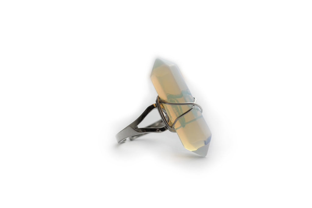Opal Crystal Point Ring #R03 - Fux Jewellery