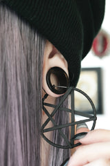 black Pentacle Earrings #560
