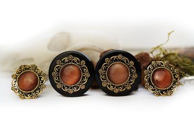 Gold Tribal Plugs #554 - Fux Jewellery