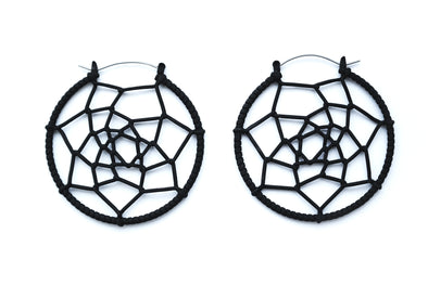 Black Dreamcatcher Earrings #563 - Fux Jewellery