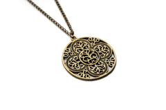 bronze Mandala Necklace #572