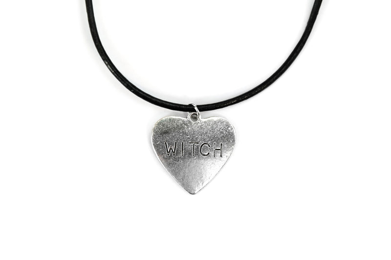 Silver Witch Heart Choker #CH08 - Fux Jewellery