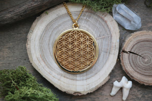 Golden Flower of Life Necklace #N52 - Fux Jewellery