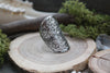 silver 'Flower of Life' Ring #702 - Fux Jewellery