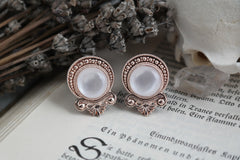 Rose Gold Teardrop Plugs | Fux Jewellery