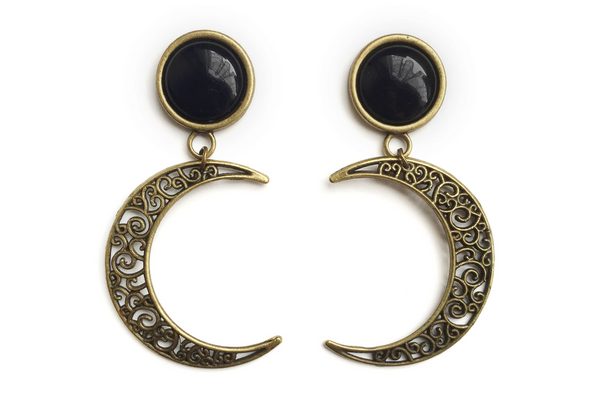 bronze Crescent Moon Plugs #731