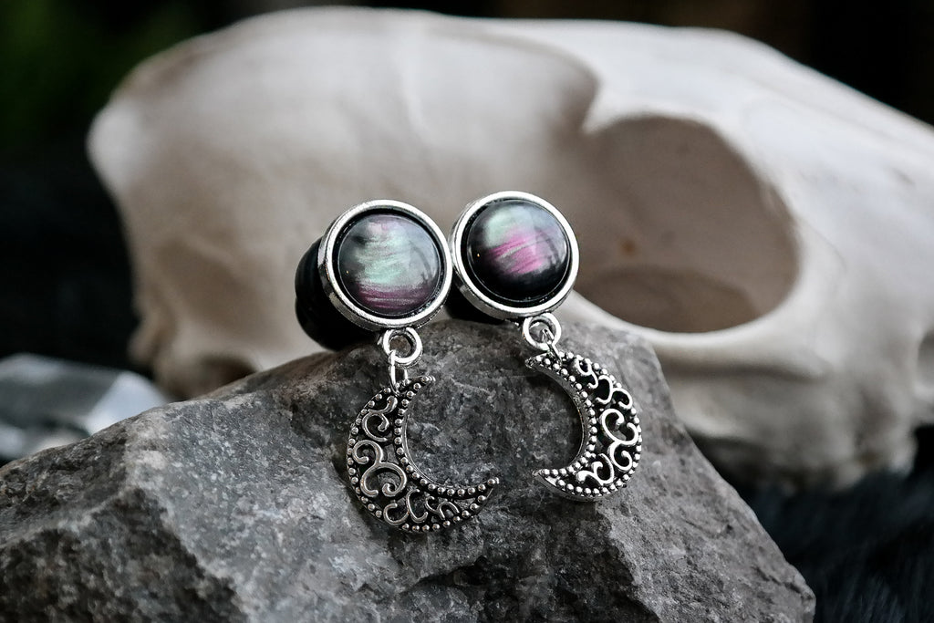 Small Nebula Moon Plugs #P14