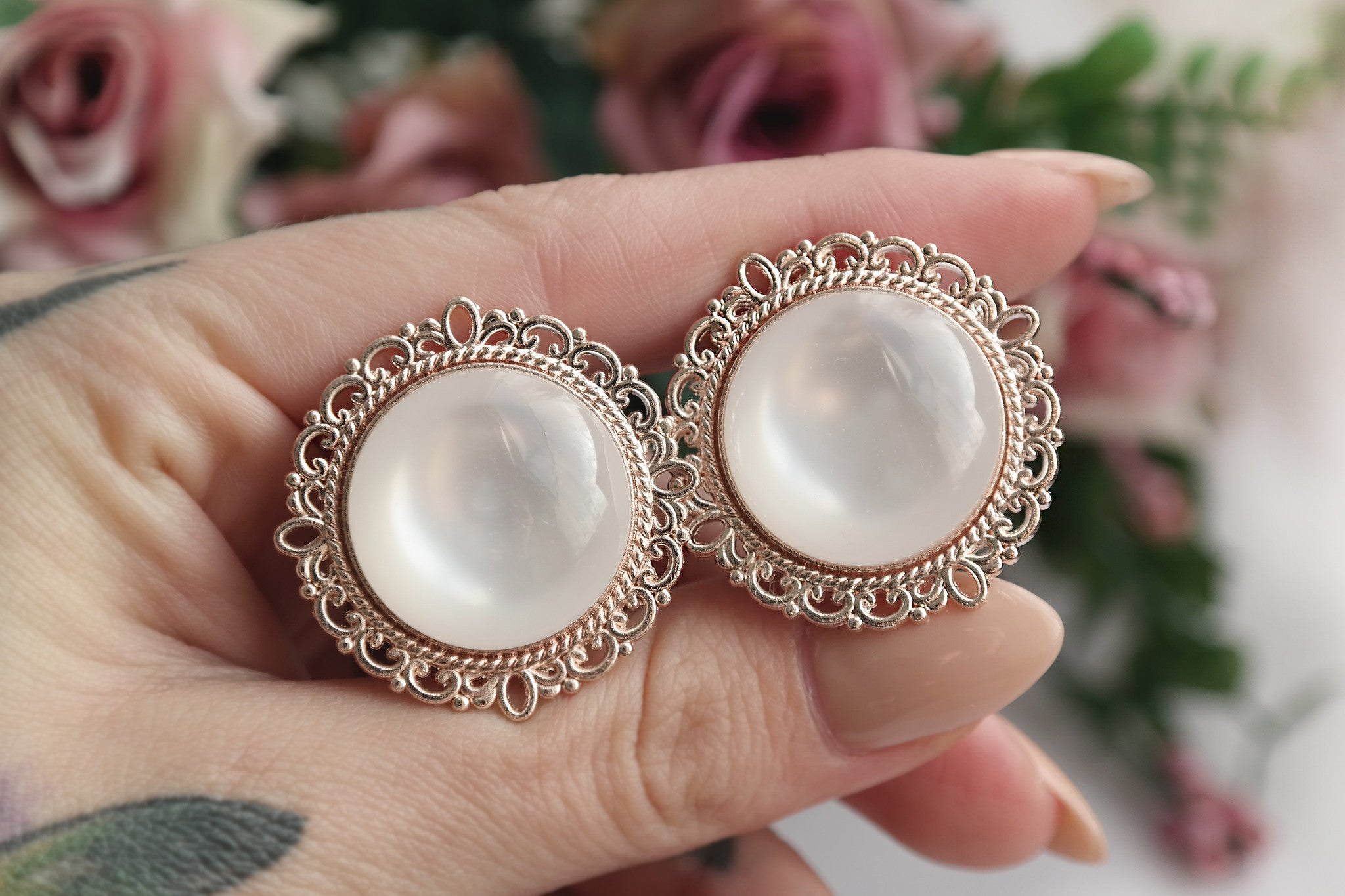 Roségold Ornate Plugs #709