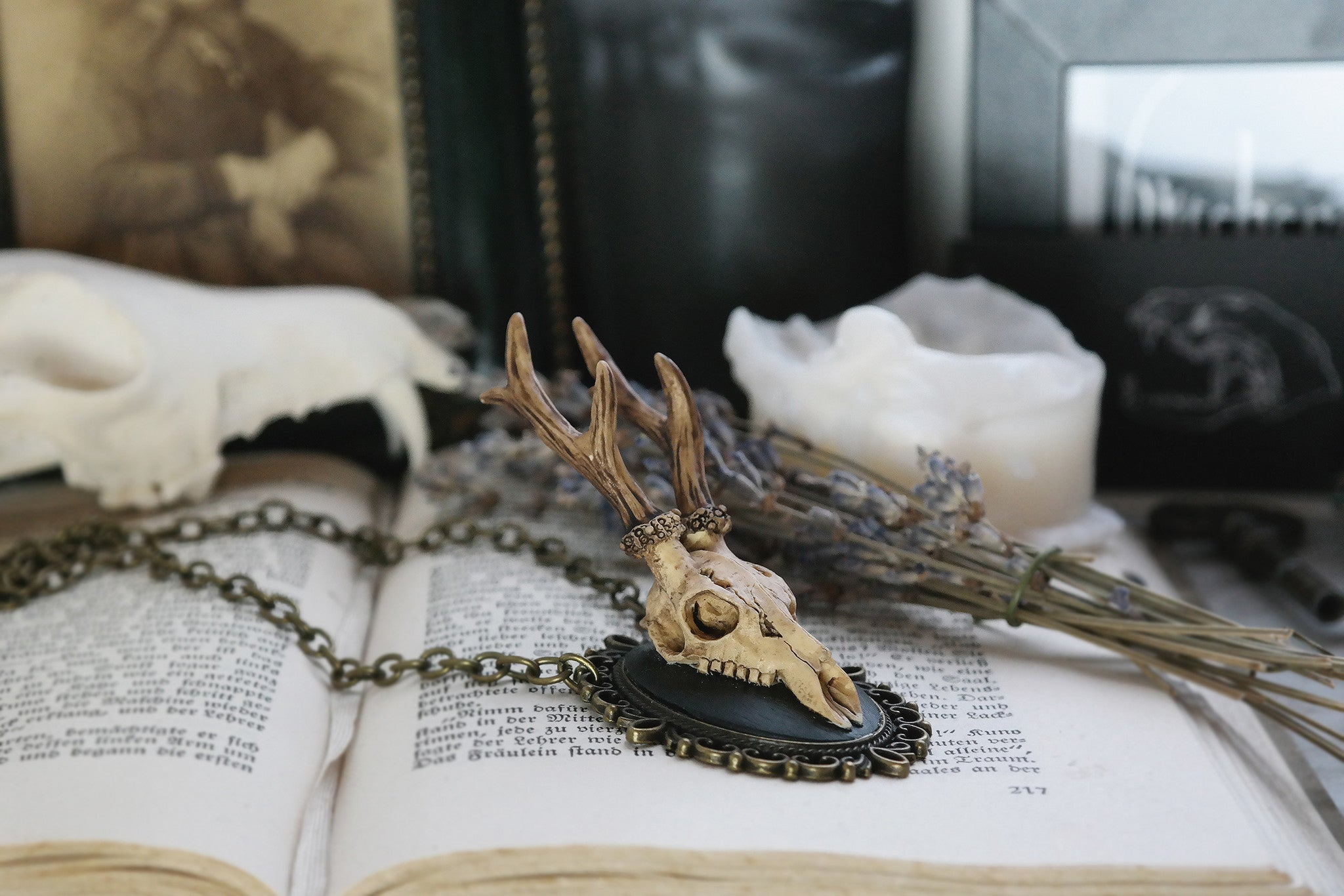 Replica Deer Skull Necklace #036