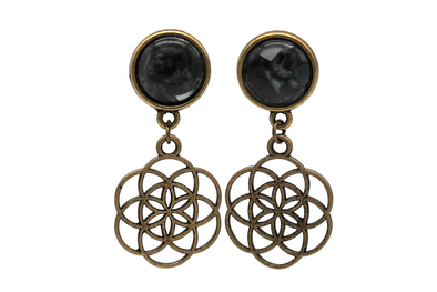 Bronze Flower of Life Plugs #P22 - Fux Jewellery