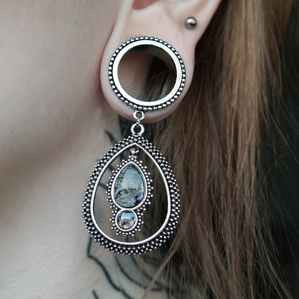 Silver Shell Tribal Tunnel #752 - Fux Jewellery