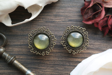 small green Moss Plugs #766 - Fux Jewellery