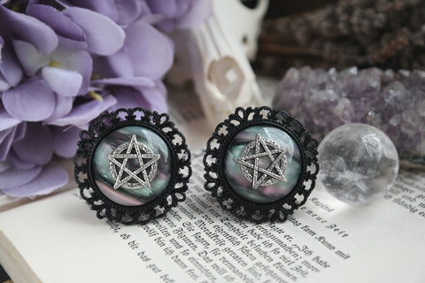 black Pentacle Nebula Plugs #774