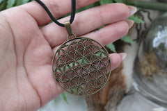 bronze 'Flower of Life' Necklace #786