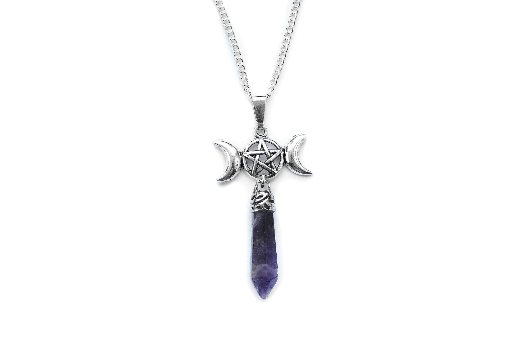 triple goddess amethyst Necklace #782