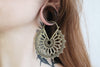 Big Bronze Mandala Earring Hoops #BE01 - Fux Jewellery