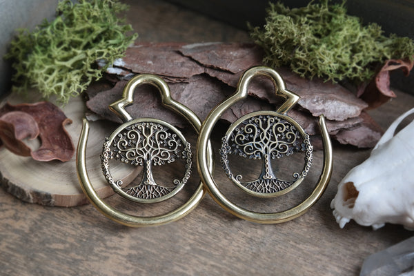 brass Tree of Life Ear Weights #EW04