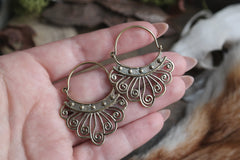 small brass tribal Earrings #BE02