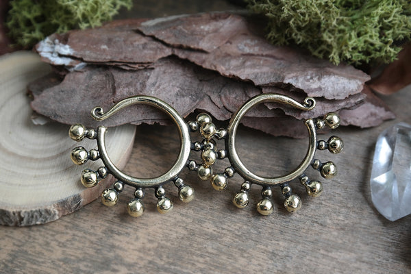 brass dotted Ear Weights #EW05