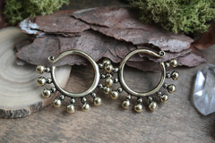 beaded brass Ear Weights #EW05