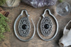 Silver Oval Onyx Ear Weights #EW03 - Fux Jewellery