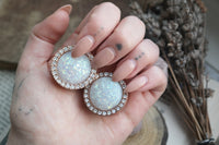 Shiny Rose Gold Opal Plugs #788 - Fux Jewellery