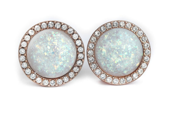 shiny rosegold Opal Plugs #781