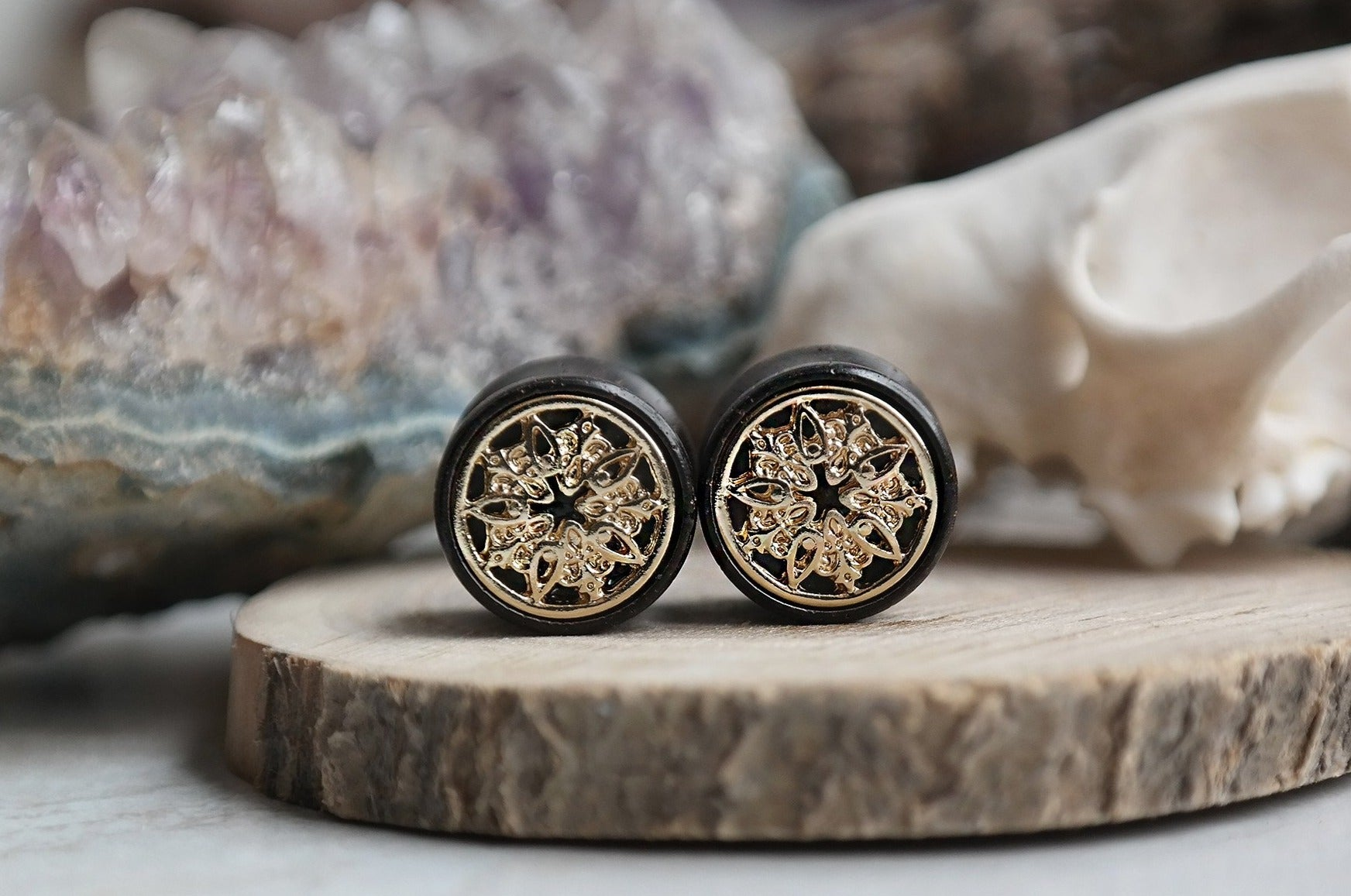 golden Oracle Mandala Plugs #WP01
