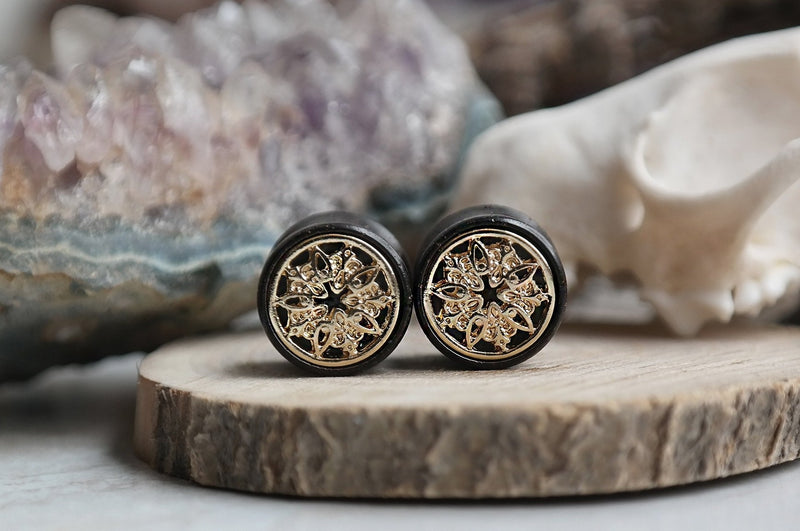golden Oracle Mandala Plugs #WP01 - Fux Jewellery