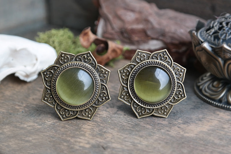 big Mandala Flower Plugs #796 - Fux Jewellery
