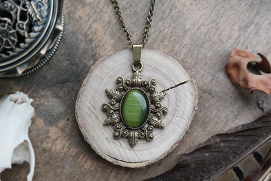 Green Forest Amulet #N67 - Fux Jewellery