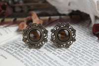 Tiger Eye Ethno Plugs #148 - Fux Jewellery