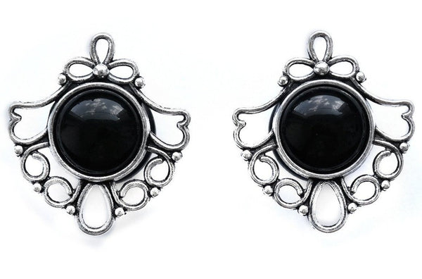 black filigree plugs #811