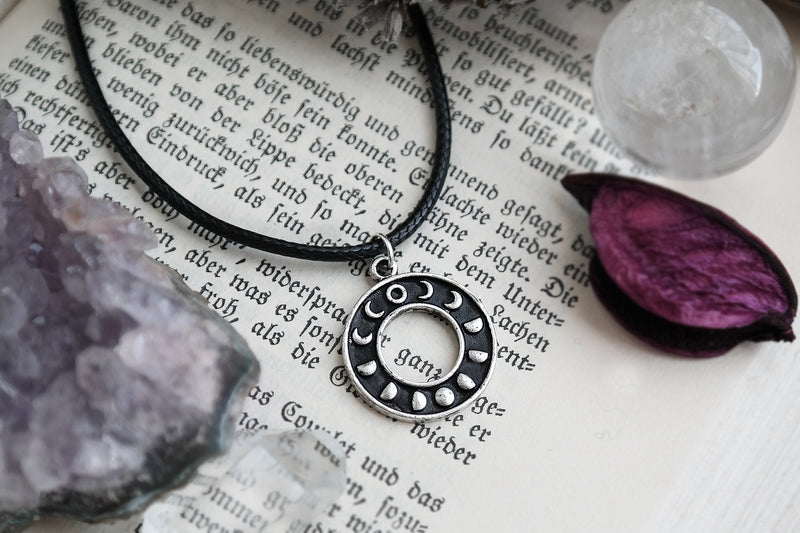 Silver Moon Phase Choker #CH13 - Fux Jewellery