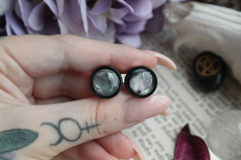 small round Sacred Nebula Plugs #824 - Fux Jewellery