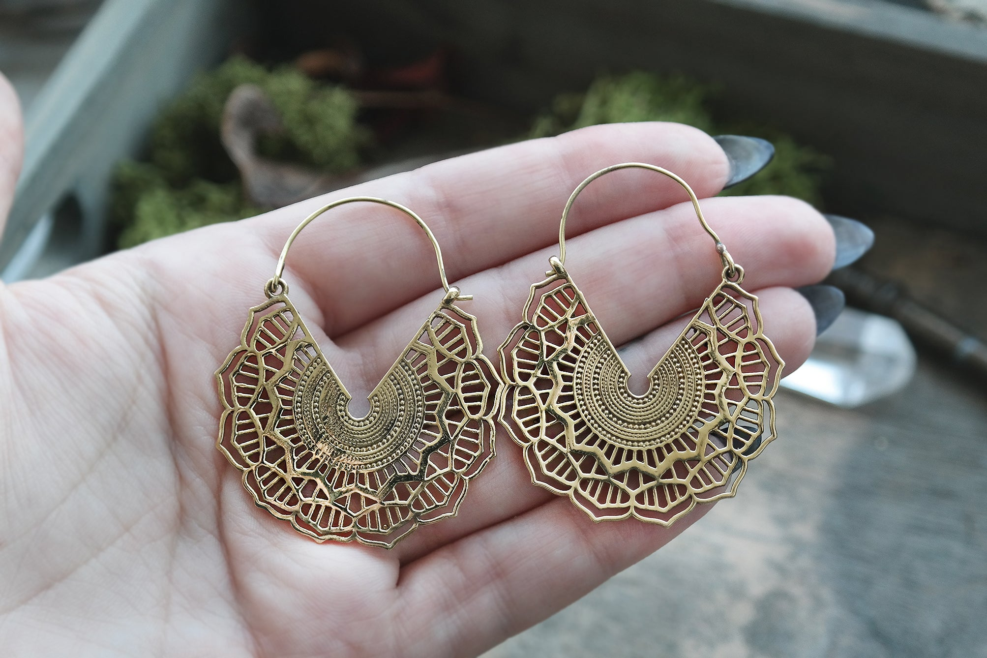 golden Maya Hoops #BE20