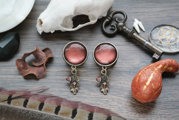 bronze Acorn Plugs #831 - Fux Jewellery
