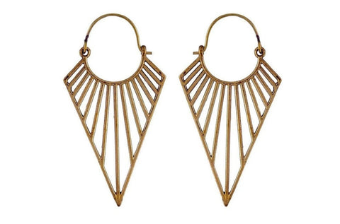 gold Pointed Hoops #BE24
