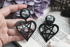 Black Pentaheart Plugs #836 - Fux Jewellery