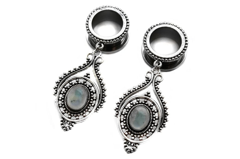 silver Moonstone Tunnel Fux Jewellery