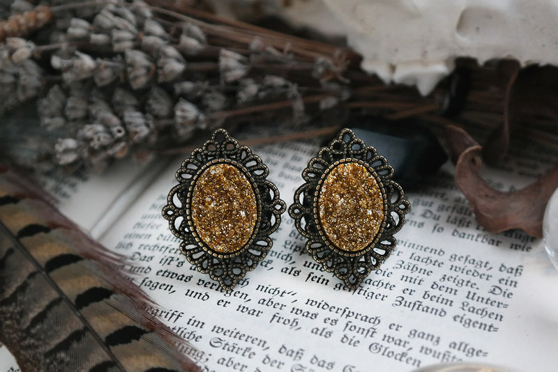 Bronze Gold Rush Plugs #P17 - Fux Jewellery