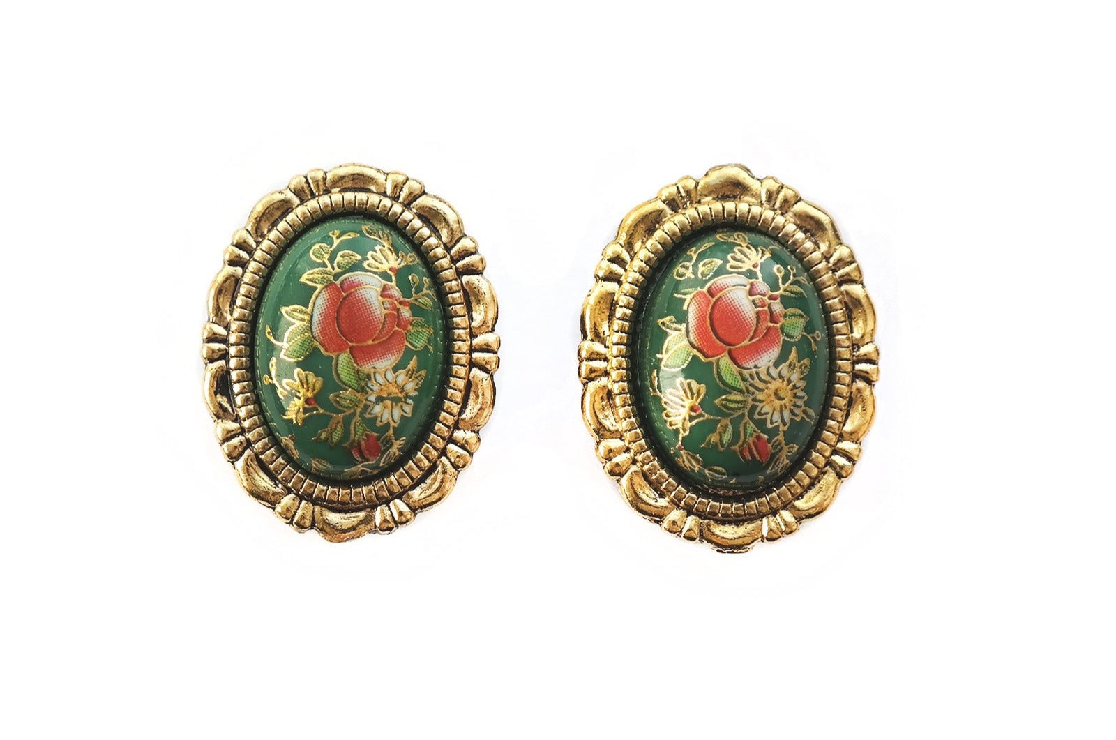 vintage gold Rose Plugs #844