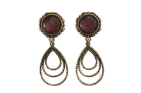 Bronze Auburn Dangle Plugs #P12 - Fux Jewellery