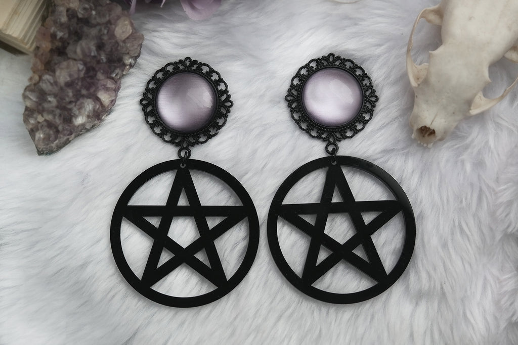 black Pentacle Plugs #852 - Fux Jewellery