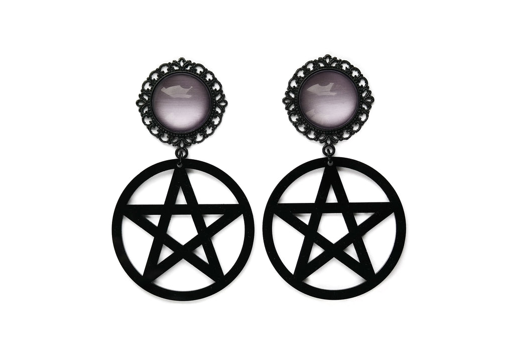 black Pentacle Plugs #852