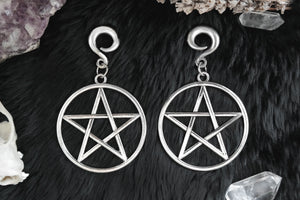 Pentacle Ear Weights #EW19 - Fux Jewellery