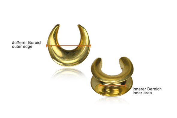 Golden Brass Saddle Spreaders #SW01 - Fux Jewellery